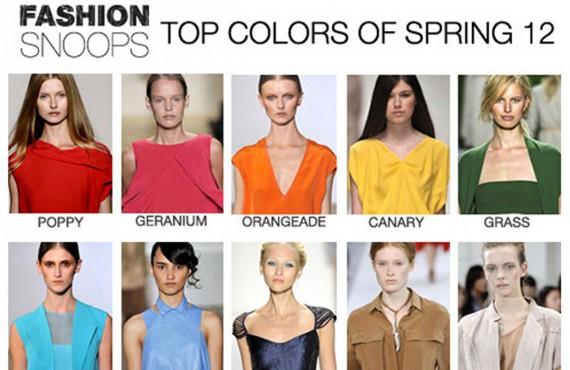 Fashion colors 2012: i colori della moda femminile primavera/estate