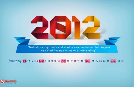 Un calendario sul desktop: 10 sfondi creativi per Gennaio
