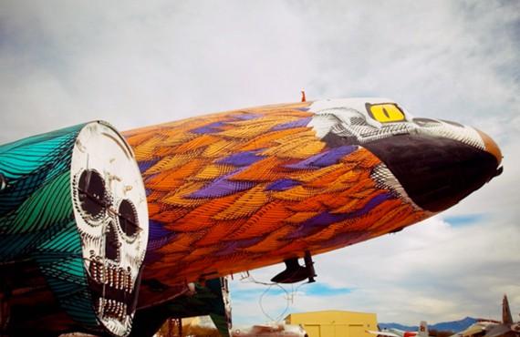 Ieri aerei militari, oggi capolavori del graffitismo
