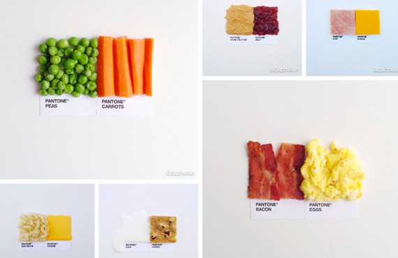 Pantone pairings: la food photography formato Instagram