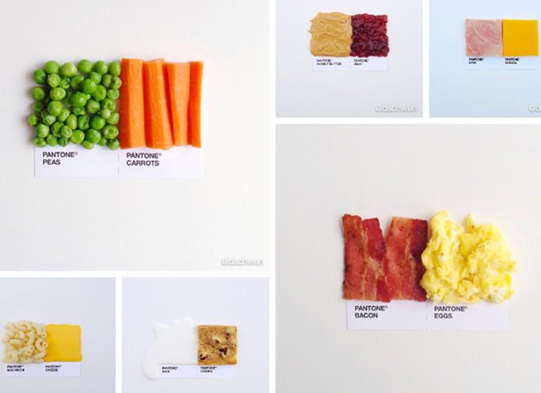 Pantone pairings: la food photography formato Instagram