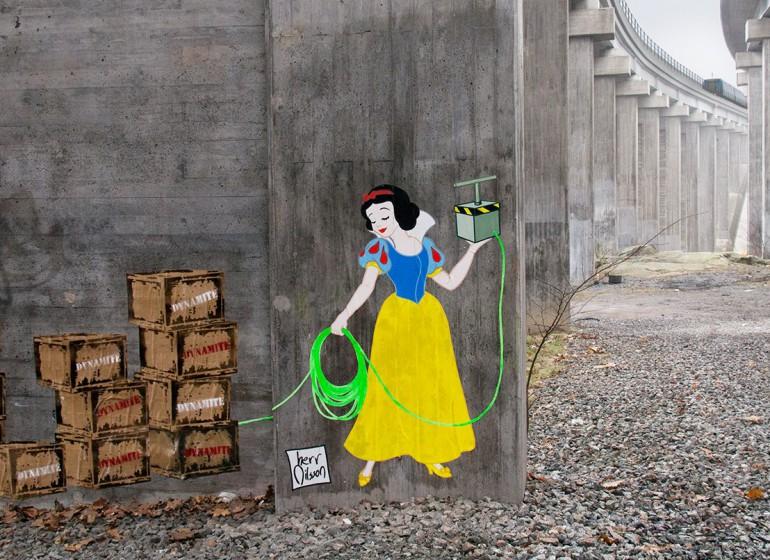 Le principesse Disney killer invadono le strade di Stoccolma