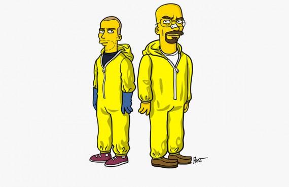 Breaking Bad versione Simpson nelle illustrazioni di ADN