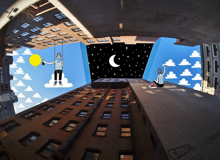 Nella Sky Art di Lamadieu la street art conquista il cielo