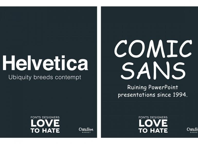 11 font che i graphic designer amano odiare