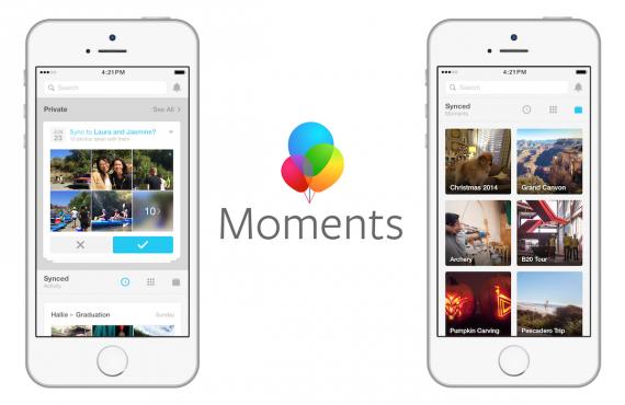 Con l'app Facebook Moments condividi in privato le foto con gli amici