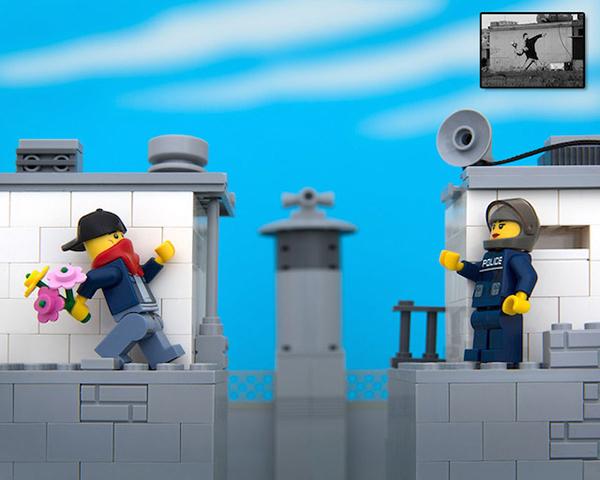 Bricksy: la street-art di Banksy riprodotta coi LEGO