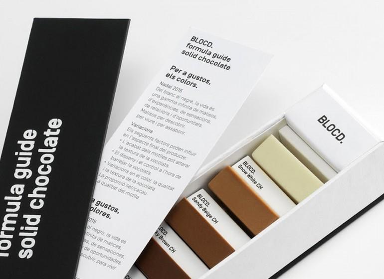 Il packaging del cioccolato che si crede una palette pantone