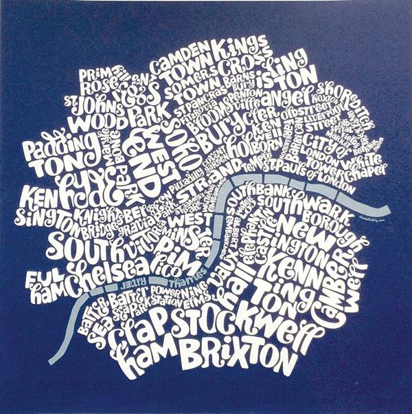 Le città tipografiche di Ursula Hitz per gli amanti della typography
