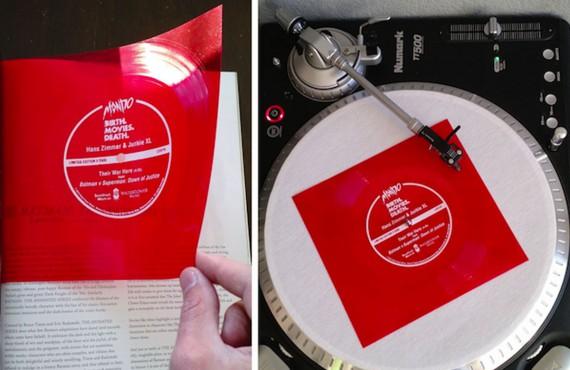 Torna il flexy-disc e la pagina pubblicitaria suona come un vinile