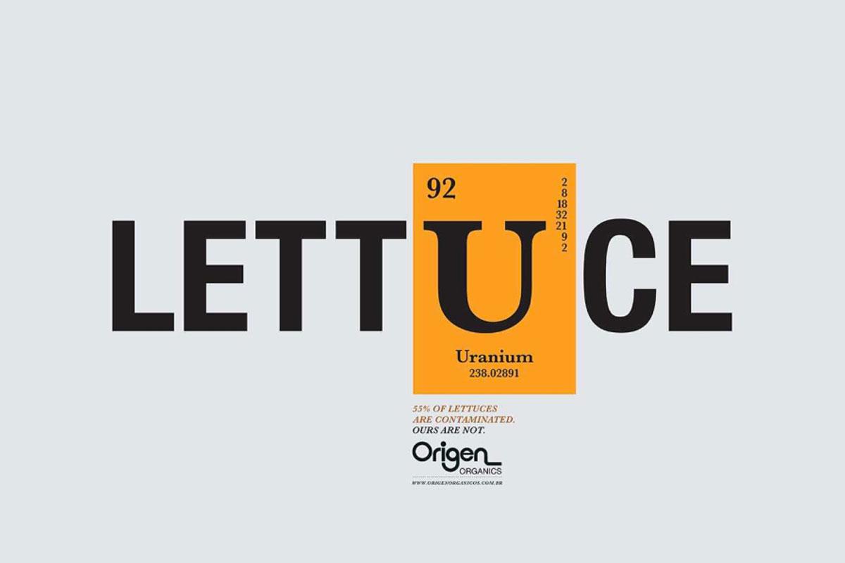 La campagna tipografica che spiega perché biologico è anche buono