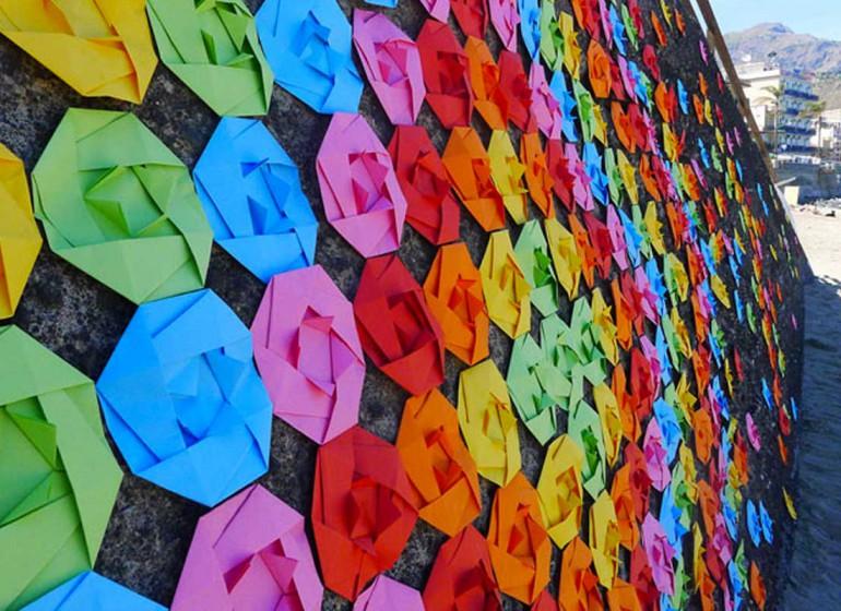 Street art & Origami: i murales di carta di Mademoiselle Maurice