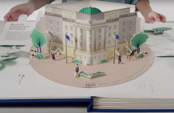 Un libro pop up per raccontare il Boston Children's Hospital