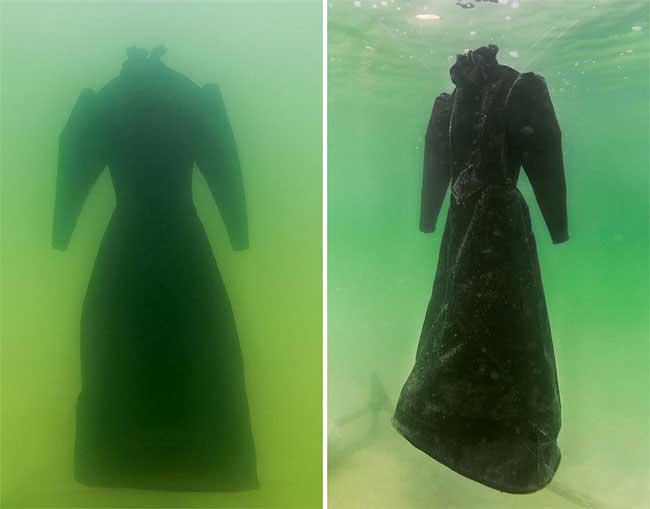 Sposa di sale: l'opera nata immergendo un vestito nel Mar Morto