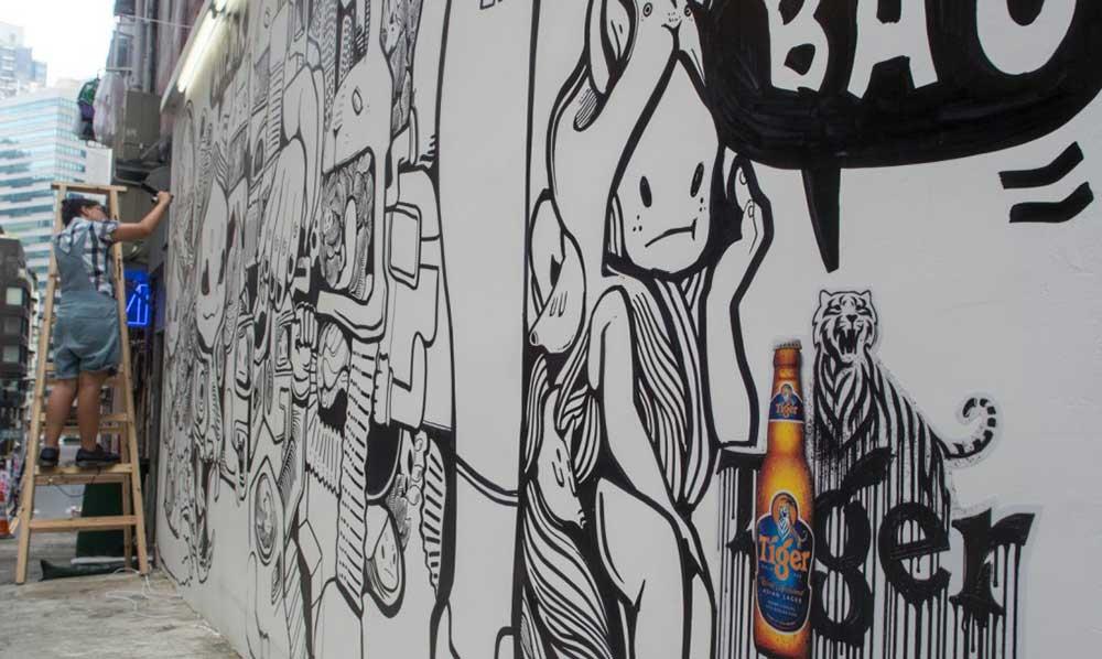 Tiger Beer trasforma l'inquinamento in inchiostro per gli street artist