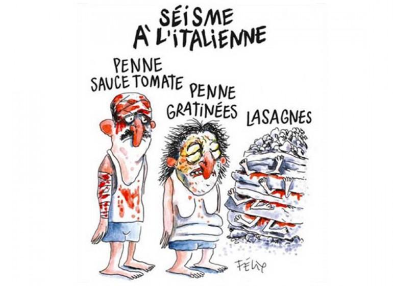 Charlie Hebdo e i terremotati italiani: ma allora vale tutto?