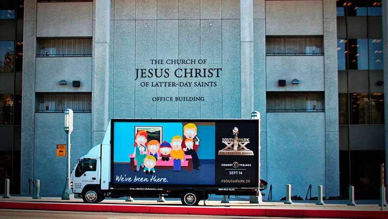 South Park e le affissioni itineranti tra ironia e polemiche