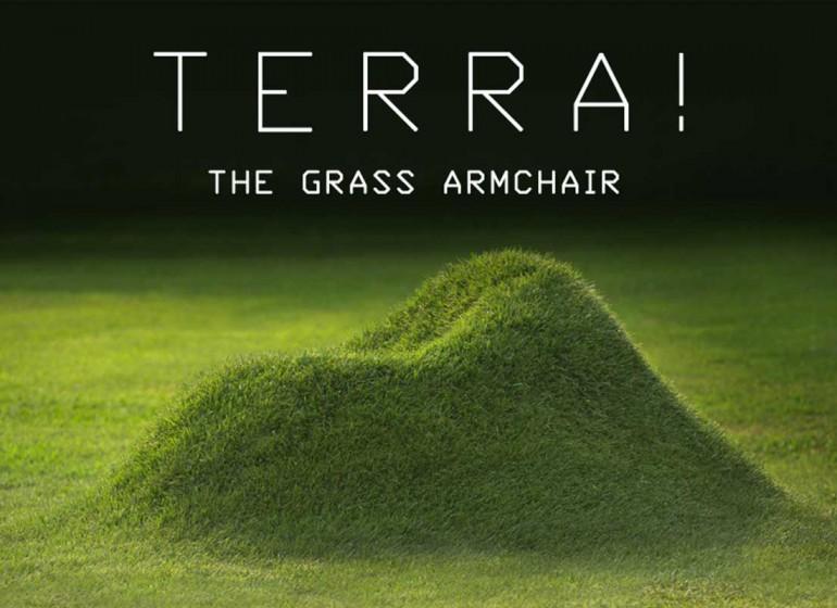 Terra! è la poltrona d'erba che si mimetizza col tuo giardino