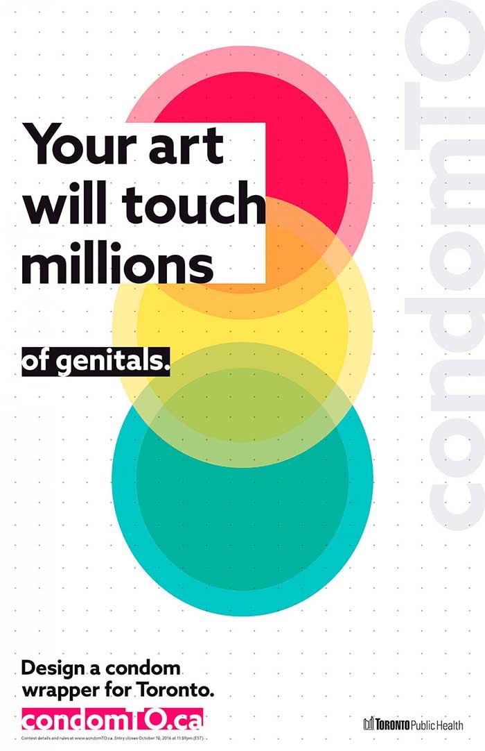 La campagna irriverente per il design del condom ufficiale di Toronto