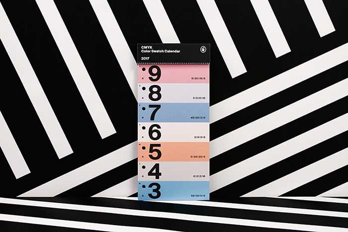 CMYK Color Swatch Calendar 2017: il regalo perfetto per ogni creativo