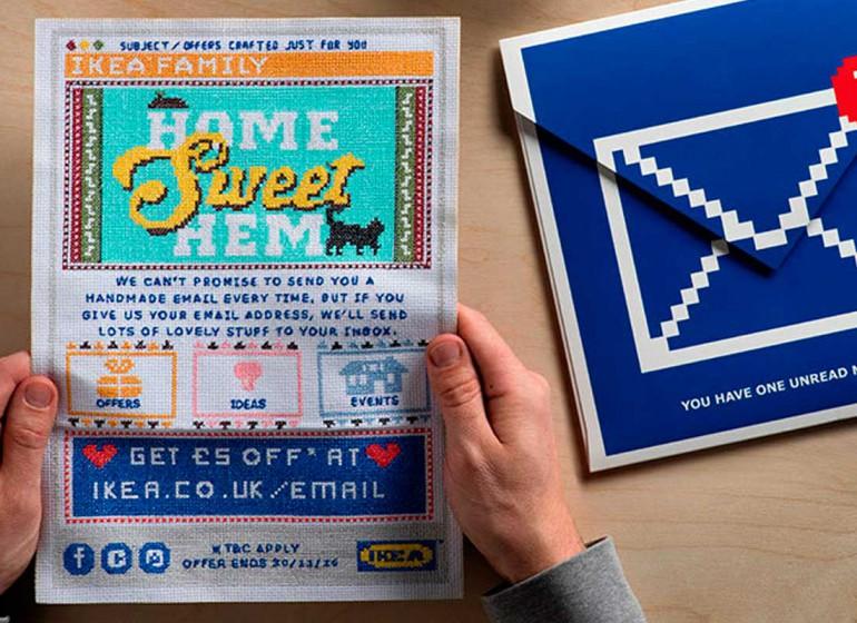 Il direct mailing a punto croce per i membri IKEA Family