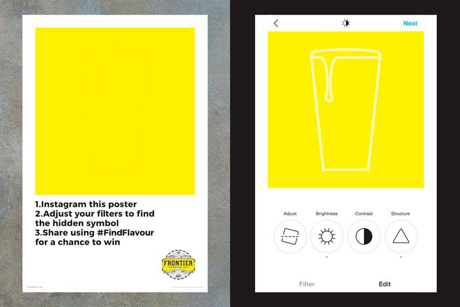 """Il poster """"muto"""" in stile guerrilla da svelare con i filtri Instagram"""