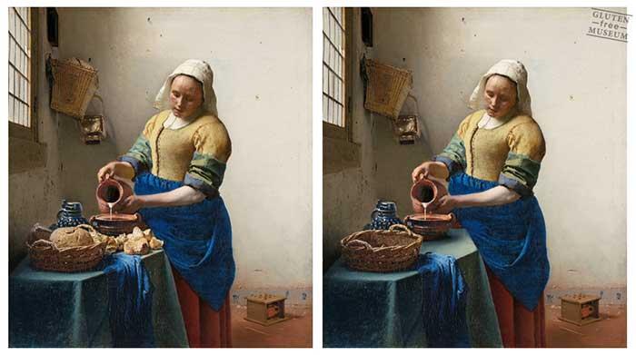 Gluten Free Museum: tutta l'ironia delle opere d'arte senza glutine