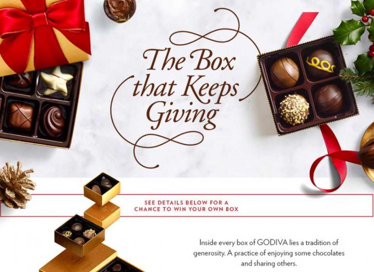 Godiva e il packaging a matrioska per cioccolatini da condividere