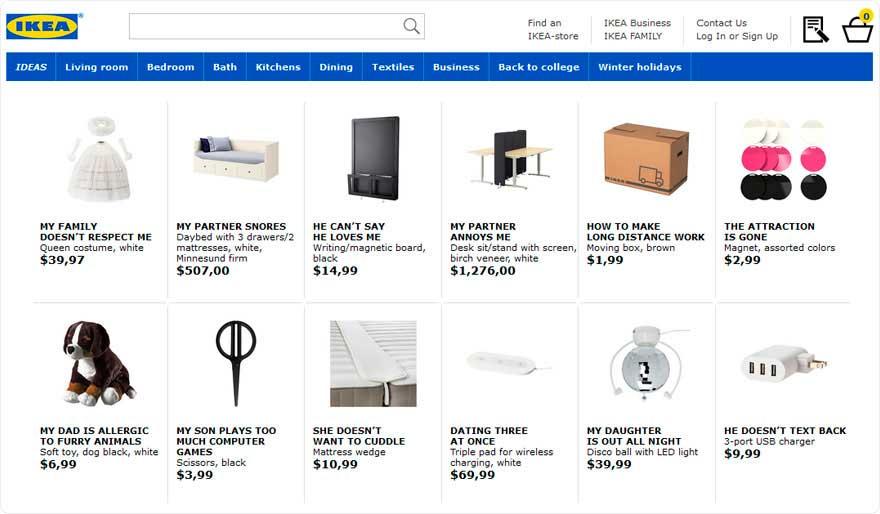 IKEA rinomina i suoi prodotti come i problemi relazionali più cercati su Google