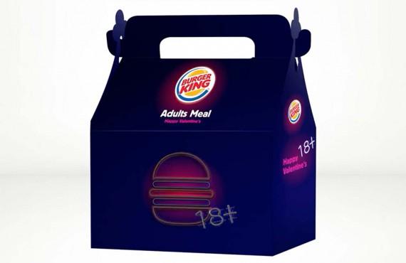 Burger King festeggia San Valentino con l'Happy Meal per adulti (no, non vibra)