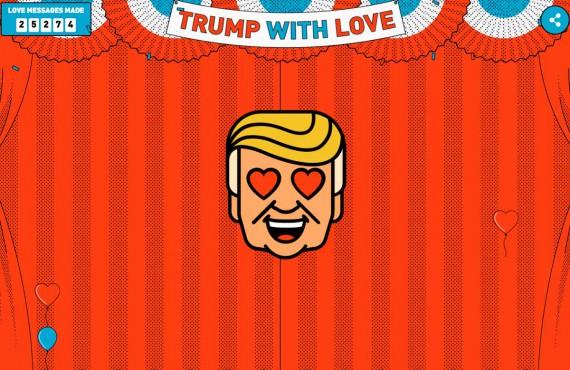 TrumpWith.Love, il generatore di messaggi d'amore con le parole di Donald Trump