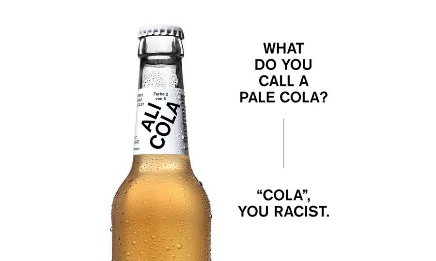 Ali Cola celebra la tolleranza con una cola per ogni colore della pelle