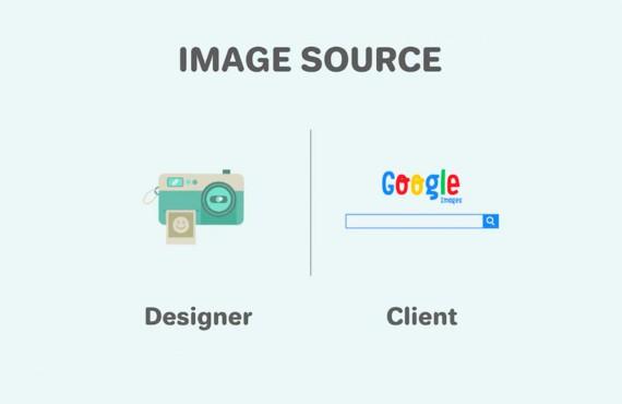 Graphic designer VS Cliente: la battaglia in una video-infografica