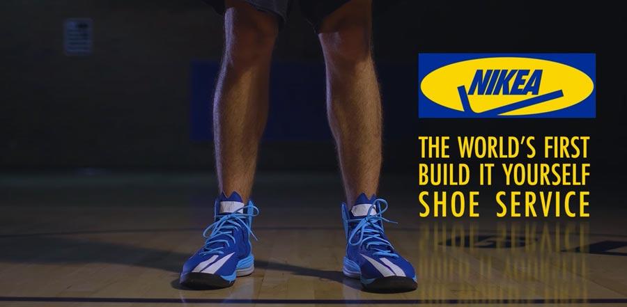NIKEA: lo spot parodia della scarpa NIKE che ti costruisci in stile IKEA