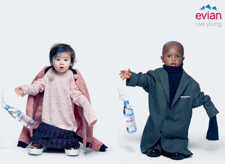 #evianOversize: la campagna di Evian che ti fa tornare bambino