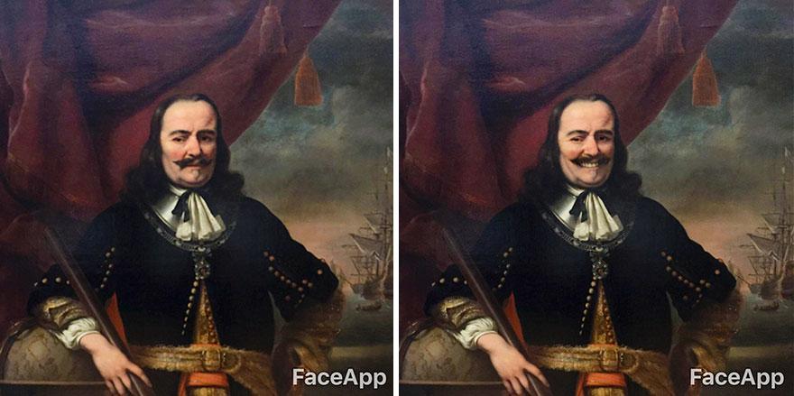 Quadri troppo seri al Rijksmuseum: Olly Gibbs li fa sorridere con FaceApp