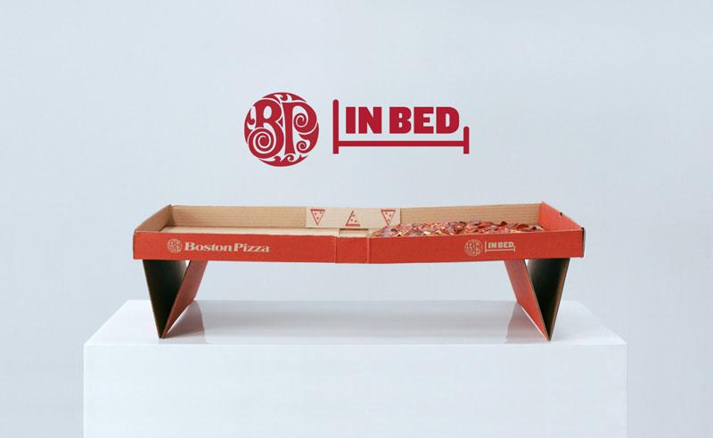 Il packaging della pizza progettato per mangiare la pizza a letto [VIDEO]